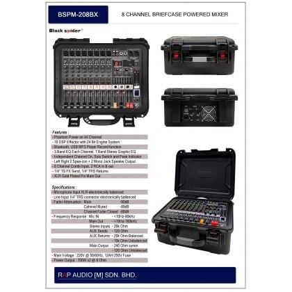 [BLACK SPIDER] BSPM-208BX POWER MIXER (BT/ USB)