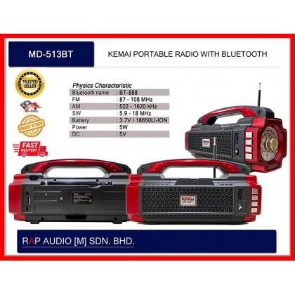 [KEMAI] MD-513BT PORTABLE RADIO (BLUETOOTH)